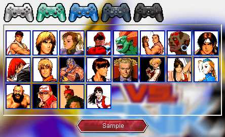 Preview half size for Capcom vs Snk game addon