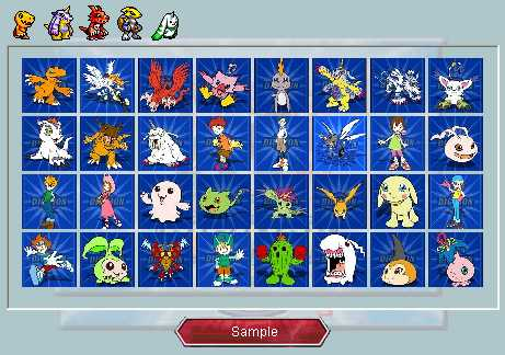 Preview half size for Digimon I game addon