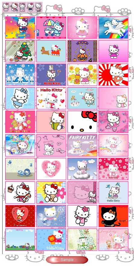 Preview half size for Hello Kitty game addon