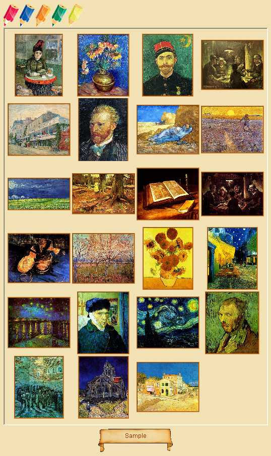Preview half size for Vincent Van Gogh game addon